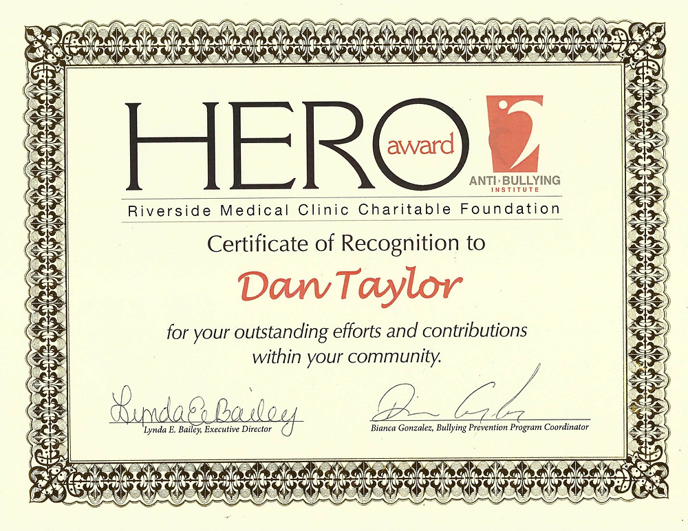 HERO Award for community contributions