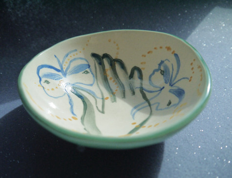 Butterfly on hand Bowl
