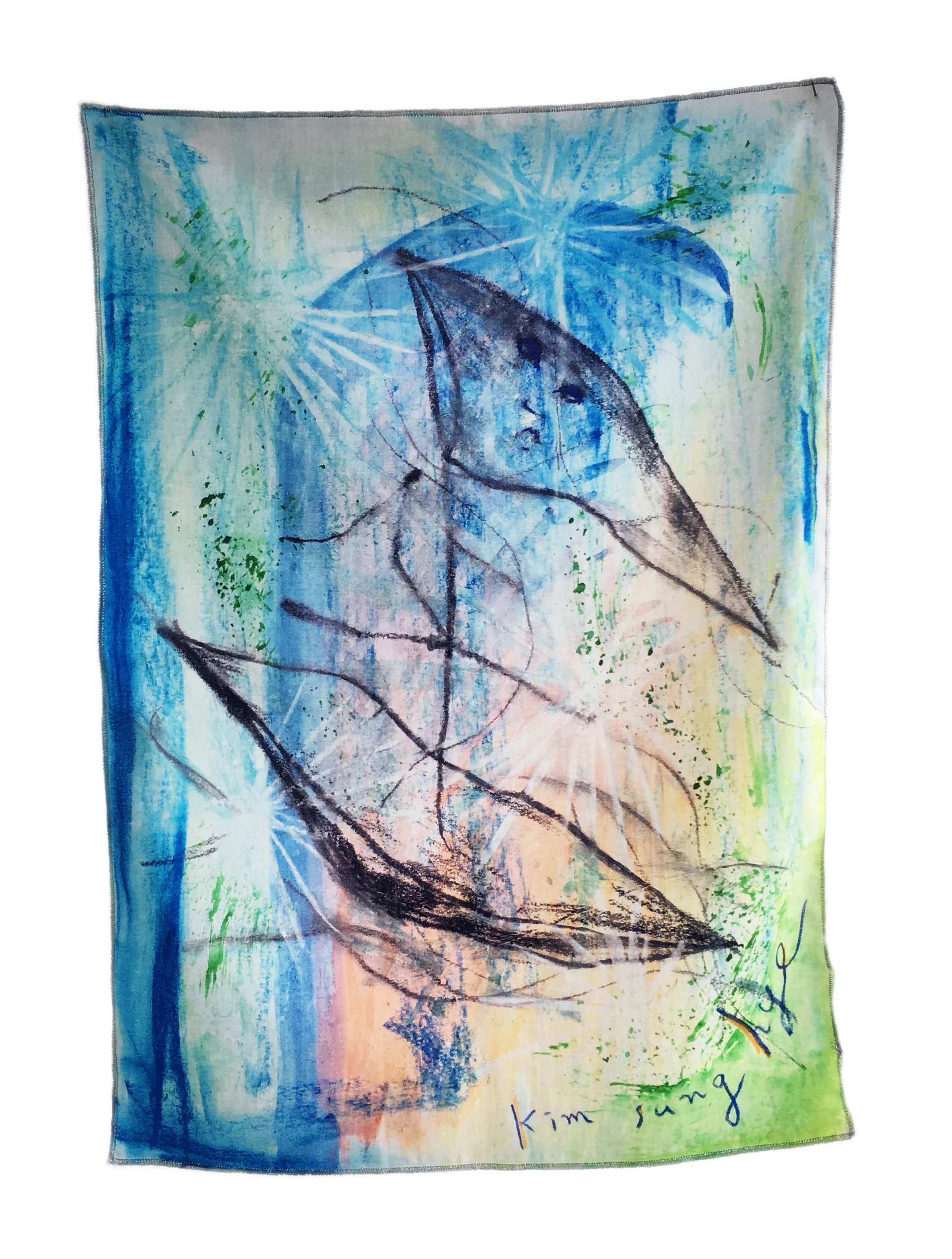 Summer Boat - Fabric Poster (blue)