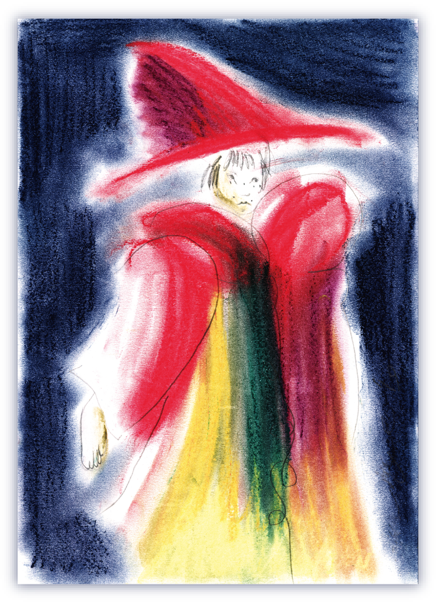 [Art Print Editions] The red cape girl