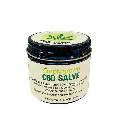 Jar of Simply Grown Farm CBD oil salve