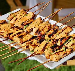 Chicken sate appetizer