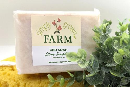 Simply Grown CBD Soap - Citrus Sandalwood