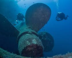 One of the propellers on the Zenobia
