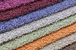 samples of carpets of different colours.
