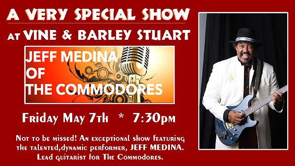Playing Friday Jeff Medina may 7 (commod