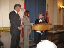 Swearing In as MLA for Kirkfield Parkin 2007