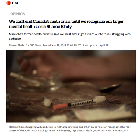 CBC Opinion piece: Meth Cris & Mental Health Crisis