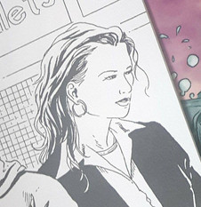 My first appearance in a comic book: Lisa Moore & DeeDee M's Brandy. Drawn by Scott B. Henderson.