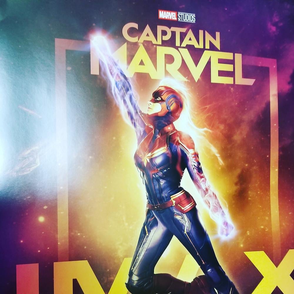 Captain Marvel, Carol Danvers , poster for MCU IMAX