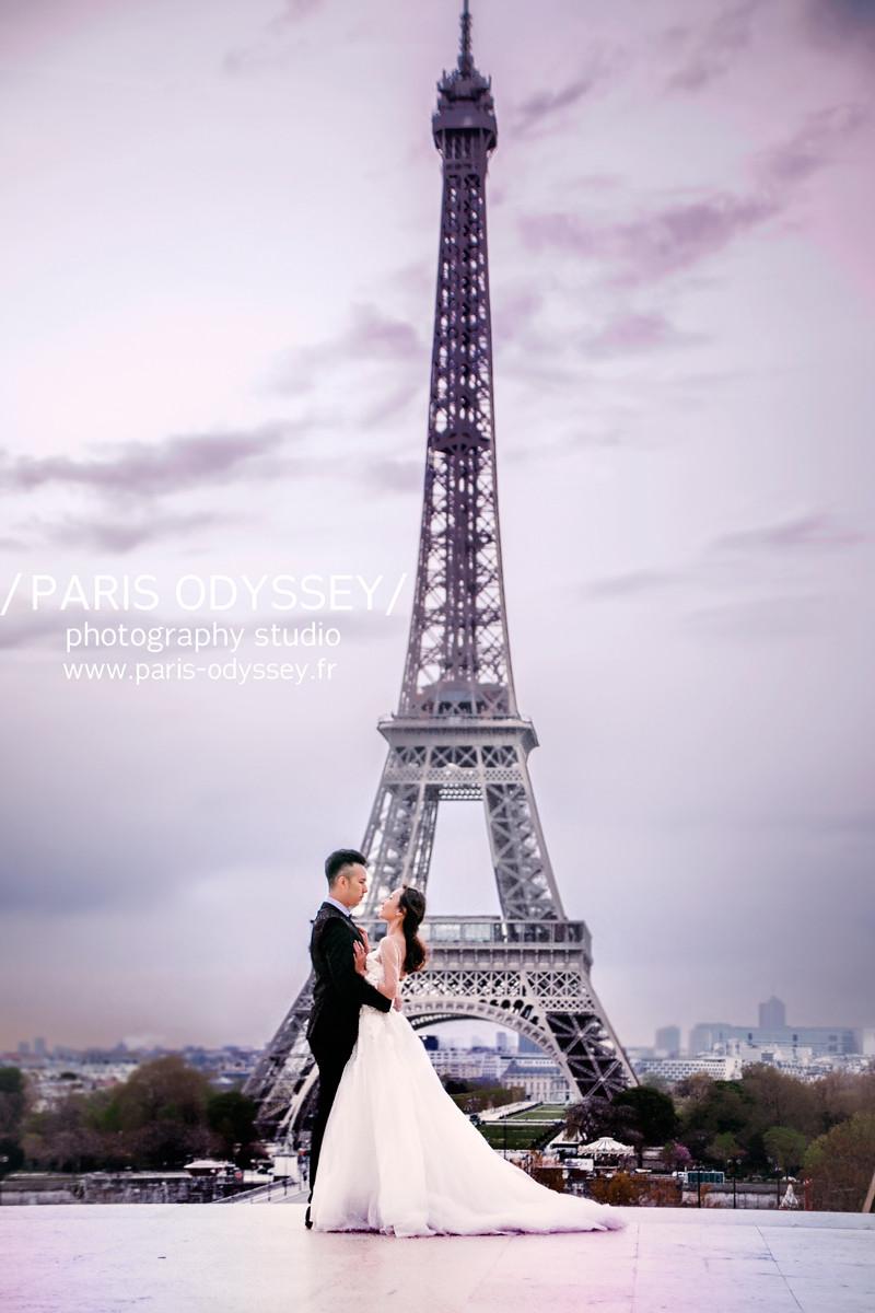巴黎拍婚紗 巴黎鐵塔拍婚紗 巴黎婚紗照