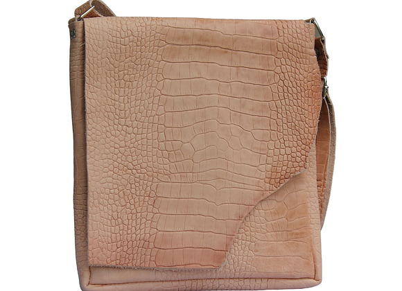Tan Leather Crossbody w/ Adjustable Strap