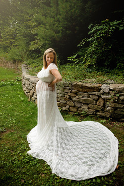 Stacey Lace Gown ~ Ivory