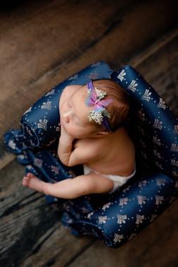 Butterfly head band newborn in little chair