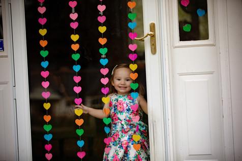 Little girl inside house covid