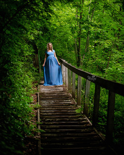 Rebecca Gown ~ Steel Blue
