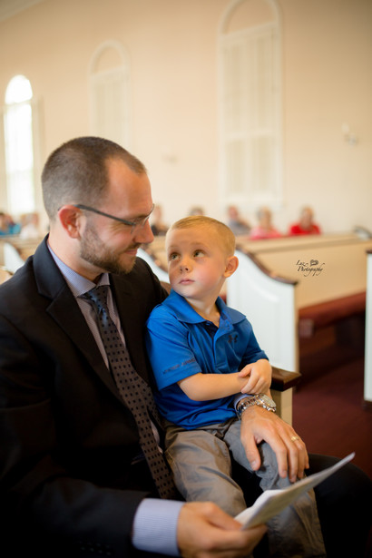 father and son at church