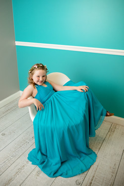 Sidney Child Gown ~ Peacock