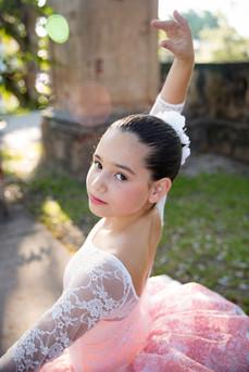 little girl dressed as a ballerina