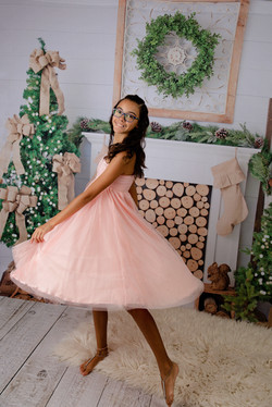 Kassidy Child Gown ~ Dusty Pink