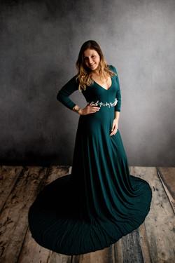Vanna Gown ~ Blue Spruce