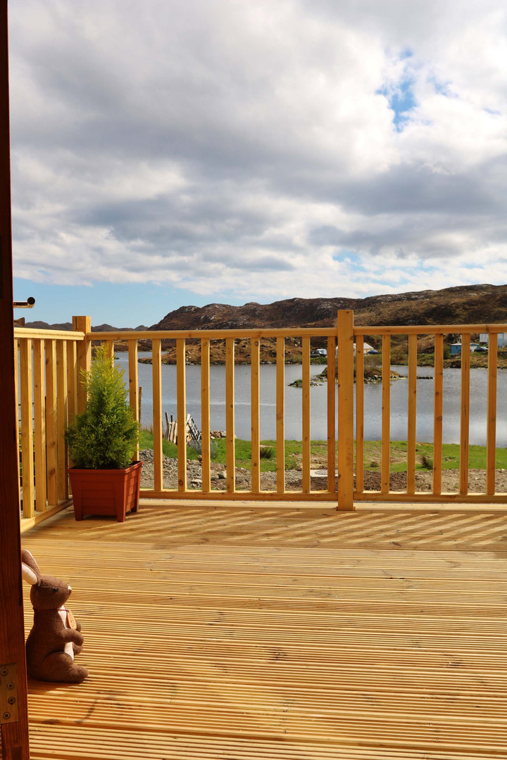 Decking overlooking the Loch.