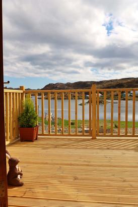 Decking overlooking the Loch.