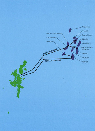Brent and Ninian Pipelines, Shetland