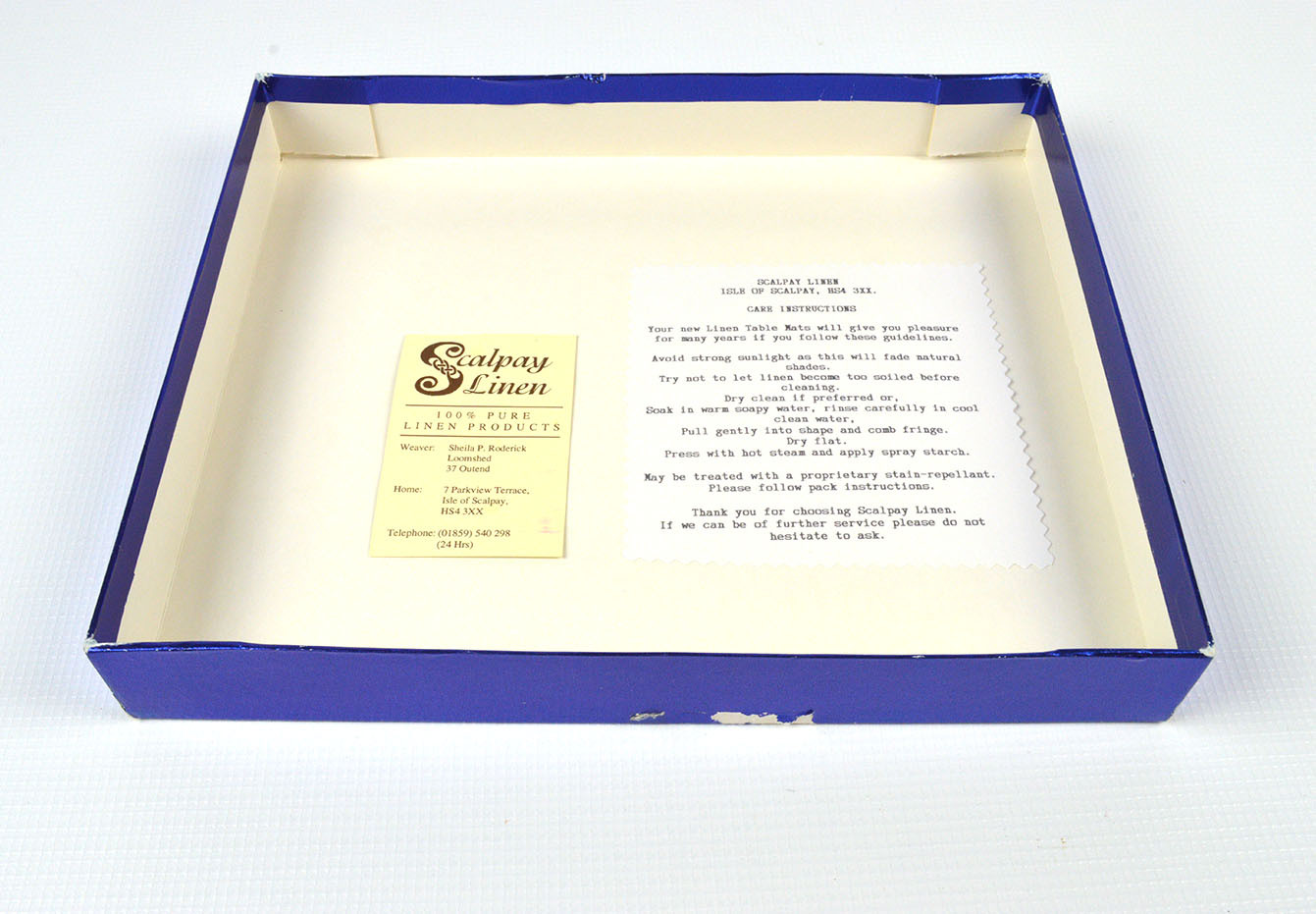 Scalpay Linen Box