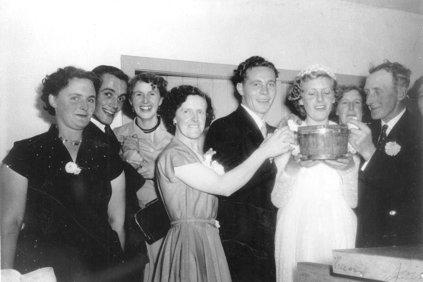 Wedding of Pat Reid and Barbara Chalmers, Stronsay, 1955