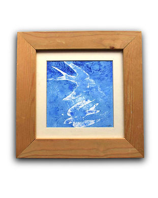 framed -blue bird painting.jpg