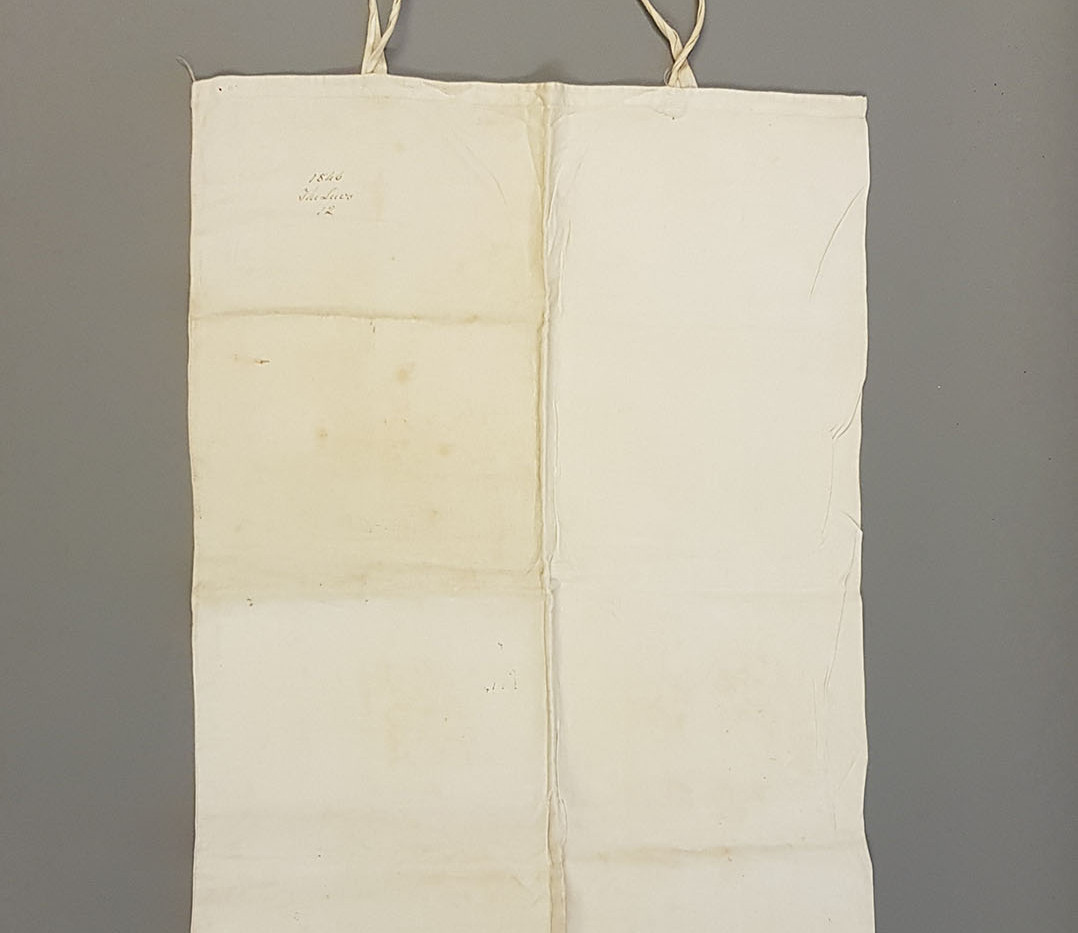 Linen pillowcase made with locally grown flax.1846