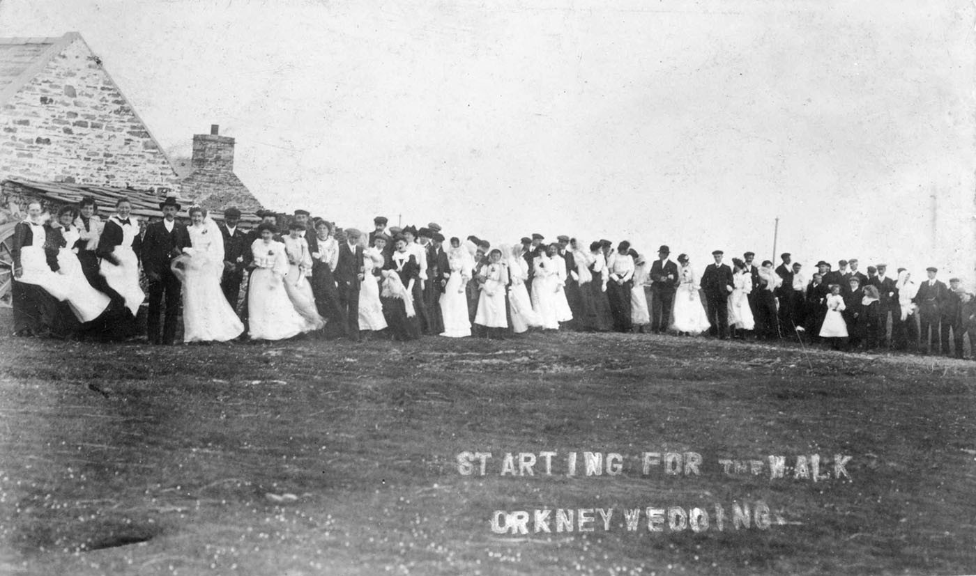 """""""Starting for the Walk – Orkney Wedding"""", c.1910"""