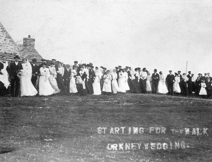 """Starting for the Walk – Orkney Wedding"", c.1910"