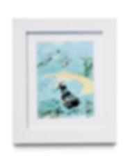 lino cut bird framed.jpg