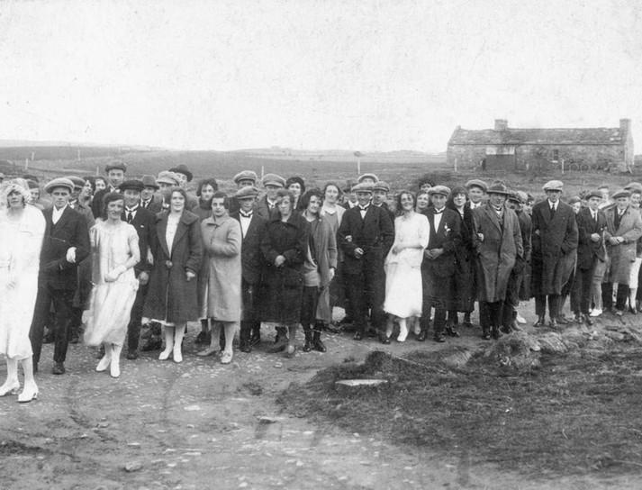 An Orkney wedding walk, c.1910