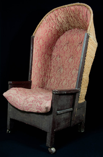 Orkney chair, fabric hooded style