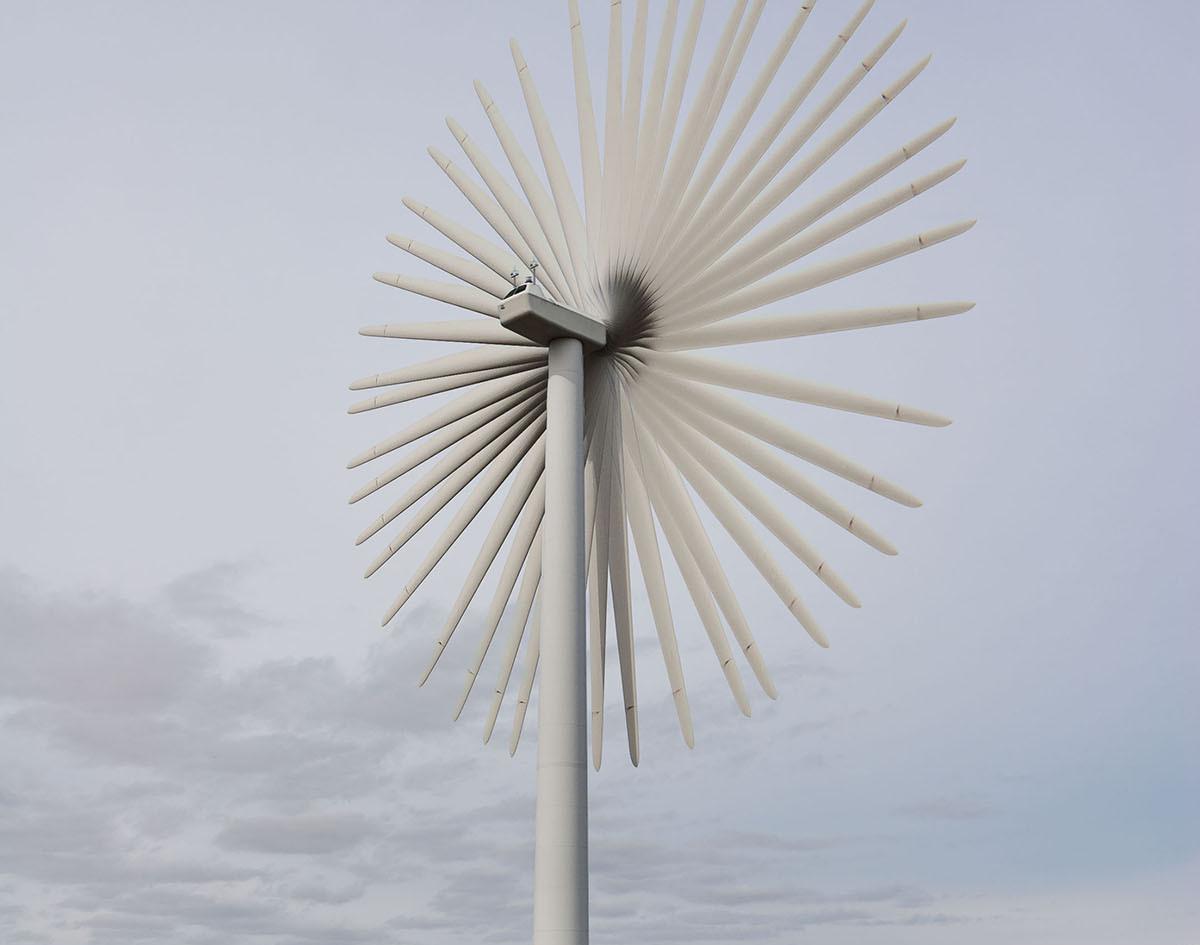 Wind turbine, Lewis. Photo taken at slow shutter speed