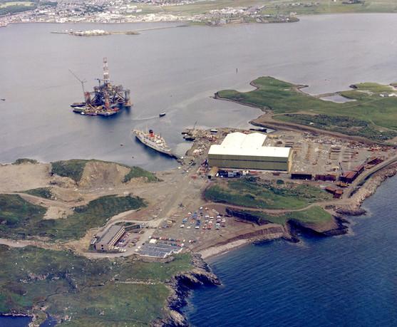 Aerial View of Arnish, Isle of Lewis