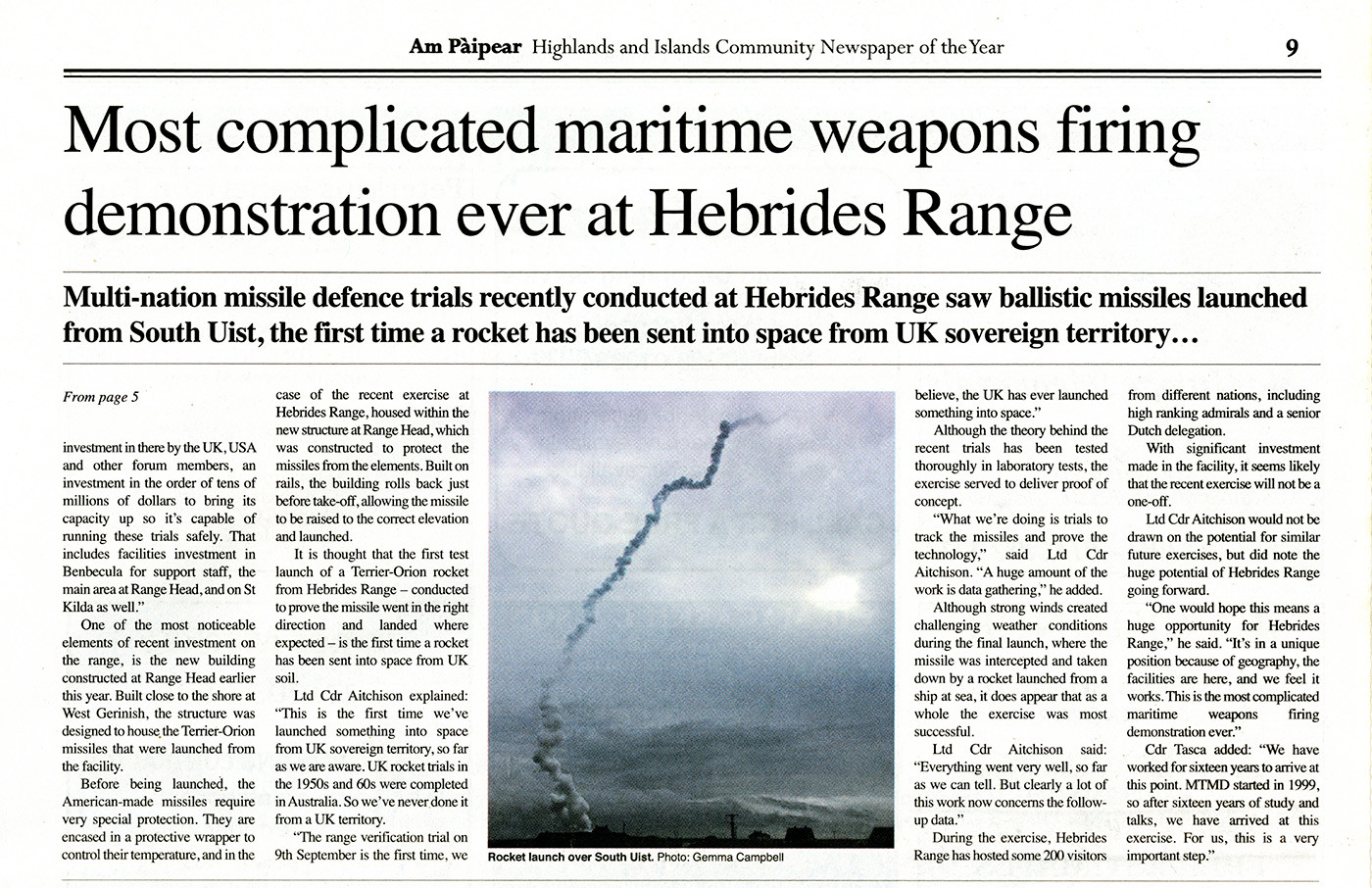 Maritime Weapons Demonstration