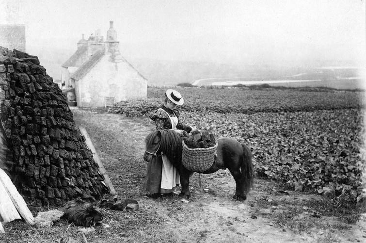 Lady wearing straw hat