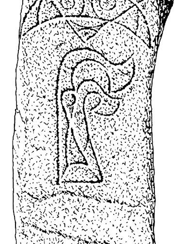 Pictish Stone, Pabbay, Barra - drawing