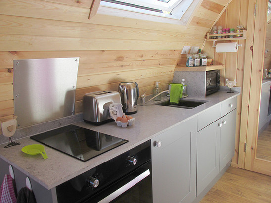 Well equipped kitchen area.