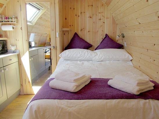 Main bedroom at rear of the pod.