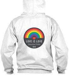 Record Love is Love Adult Zip Hoodie.jpe