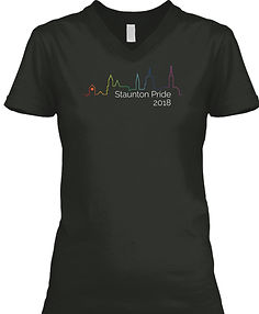 Staunton Pride 2018 Dark Womens V-Neck.j