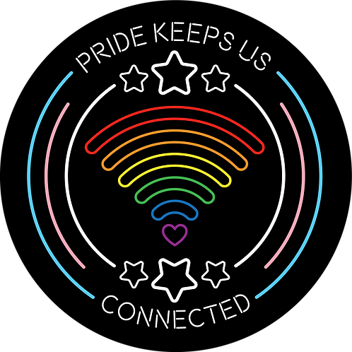 """Pride Keeps Us Connected"" Sticker"