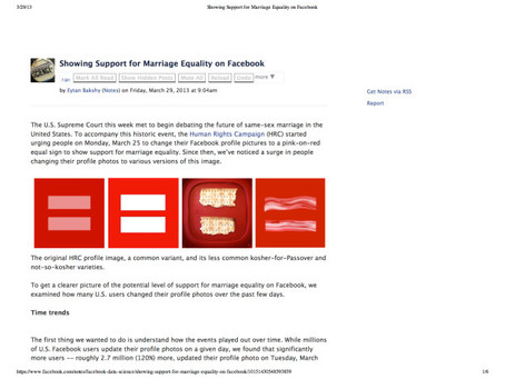 An Interesting Analysis of Support for Same-Sex Marriage on Facebook