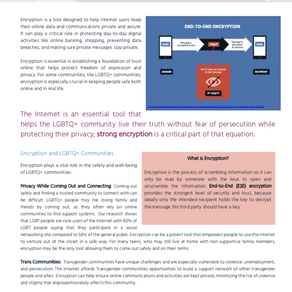 LGBT Tech Release Encryption One Sheet