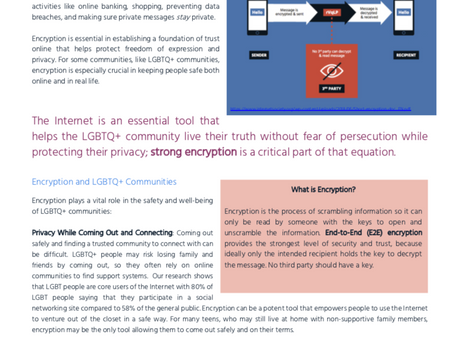 LGBT Tech Release Encryption One Sheet